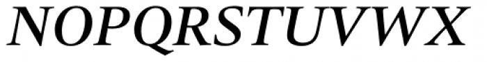 Quant Text Medium Italic Font UPPERCASE