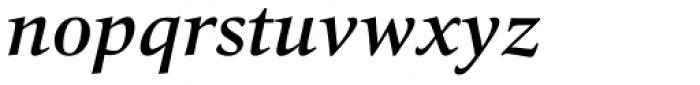 Quant Text Medium Italic Font LOWERCASE