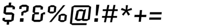 Quantico Italic Font OTHER CHARS