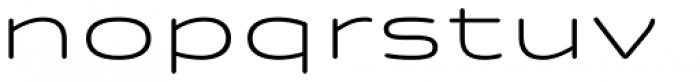 Quantum Latin Rounded Light Font LOWERCASE