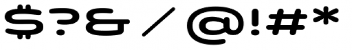 Quantum Latin Rounded Semibold Font OTHER CHARS