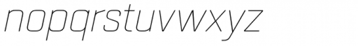 Quarca Extended Thin Italic Font LOWERCASE