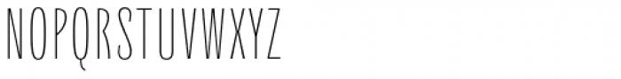 Quartal Cond SuperLight Font UPPERCASE