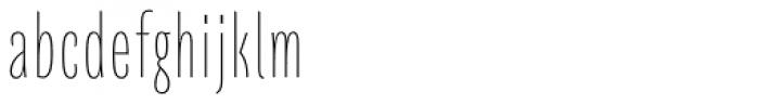 Quartal Cond SuperLight Font LOWERCASE