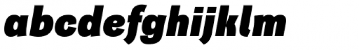 Quartal Extended Heavy Italic Font LOWERCASE