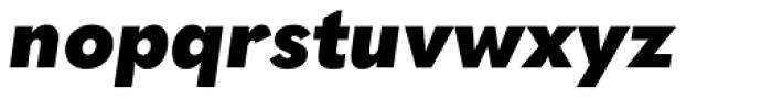 Quasimoda Black Italic Font LOWERCASE