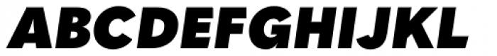 Quasimoda Heavy Italic Font UPPERCASE