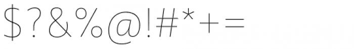 Quat Hairline Font OTHER CHARS