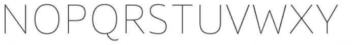 Quat Hairline Font UPPERCASE