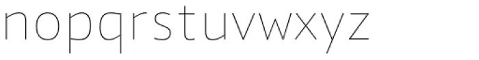 Quat Hairline Font LOWERCASE