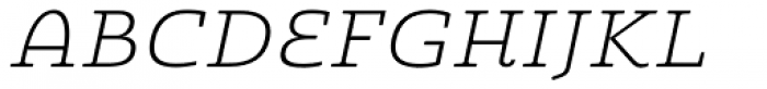 Quatie Ext Light Italic Font UPPERCASE