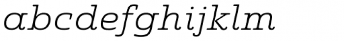 Quatie Ext Light Italic Font LOWERCASE