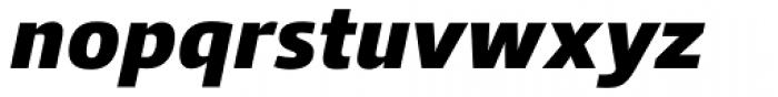 Qubo Black Italic Font LOWERCASE
