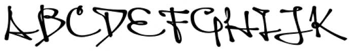 Queen Black Font UPPERCASE