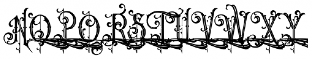 Queen Victoria Inine Swash Font UPPERCASE