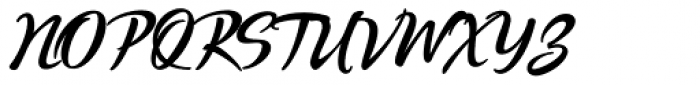 Quente Script Black Font UPPERCASE