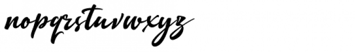 Quente Script Black Font LOWERCASE