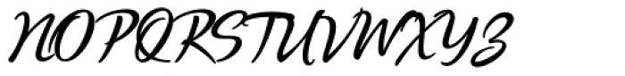 Quente Script Bold Font UPPERCASE