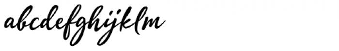 Quente Script Bold Font LOWERCASE