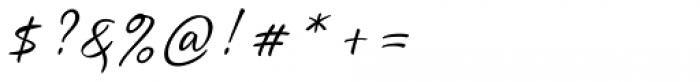 Quente Script Pen Font OTHER CHARS