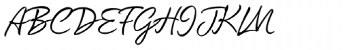 Quente Script Pen Font UPPERCASE