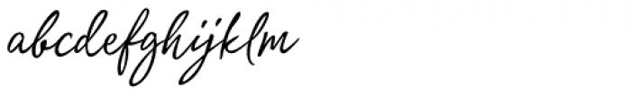 Quente Script Pen Font LOWERCASE
