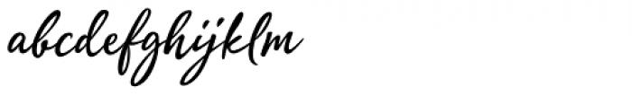Quente Script Semi Bold Font LOWERCASE