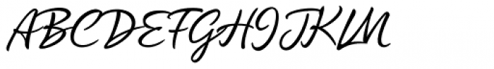 Quente Script Font UPPERCASE