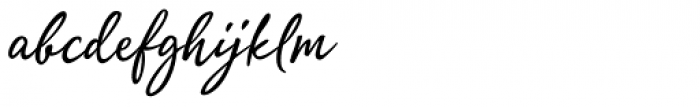 Quente Script Font LOWERCASE