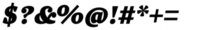 Quercus 10 Black Italic Font OTHER CHARS