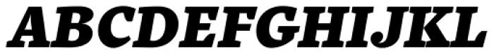Quercus 10 Black Italic Font UPPERCASE