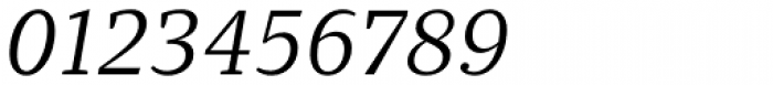 Quercus 10 Book Italic Font OTHER CHARS