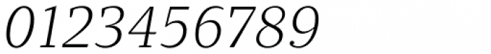 Quercus 10 Light Italic Font OTHER CHARS