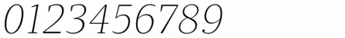 Quercus 10 Thin Italic Font OTHER CHARS
