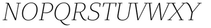 Quercus 10 Thin Italic Font UPPERCASE