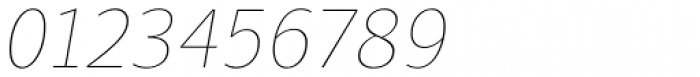 Quercus Sans Hairline Italic Font OTHER CHARS