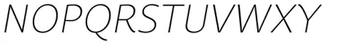 Quercus Sans Thin Italic Font UPPERCASE