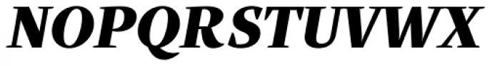 Quercus Serif Black Italic Font UPPERCASE