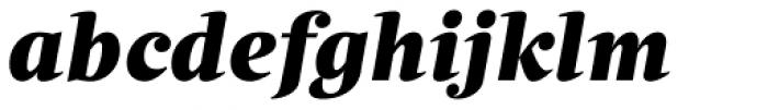 Quercus Serif Black Italic Font LOWERCASE