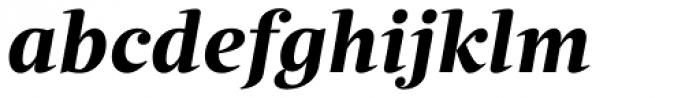 Quercus Serif Bold Italic Font LOWERCASE