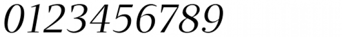 Quercus Serif Book Italic Font OTHER CHARS