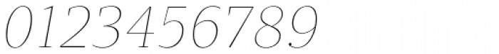 Quercus Serif Hairline Italic Font OTHER CHARS
