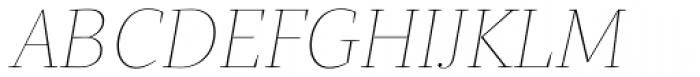 Quercus Serif Hairline Italic Font UPPERCASE