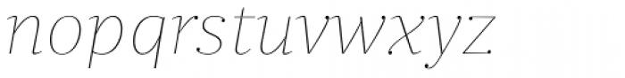 Quercus Serif Hairline Italic Font LOWERCASE