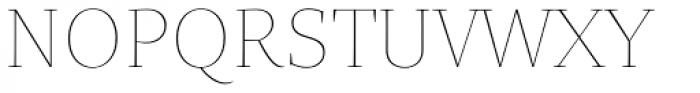 Quercus Serif Hairline Font UPPERCASE