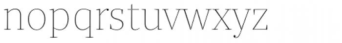 Quercus Serif Hairline Font LOWERCASE