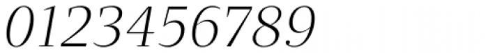 Quercus Serif Light Italic Font OTHER CHARS