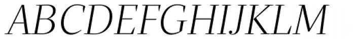 Quercus Serif Light Italic Font UPPERCASE
