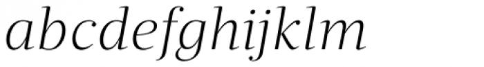 Quercus Serif Light Italic Font LOWERCASE