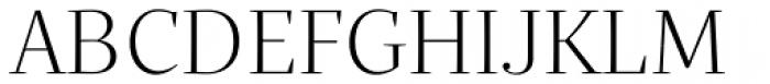 Quercus Serif Light Font UPPERCASE
